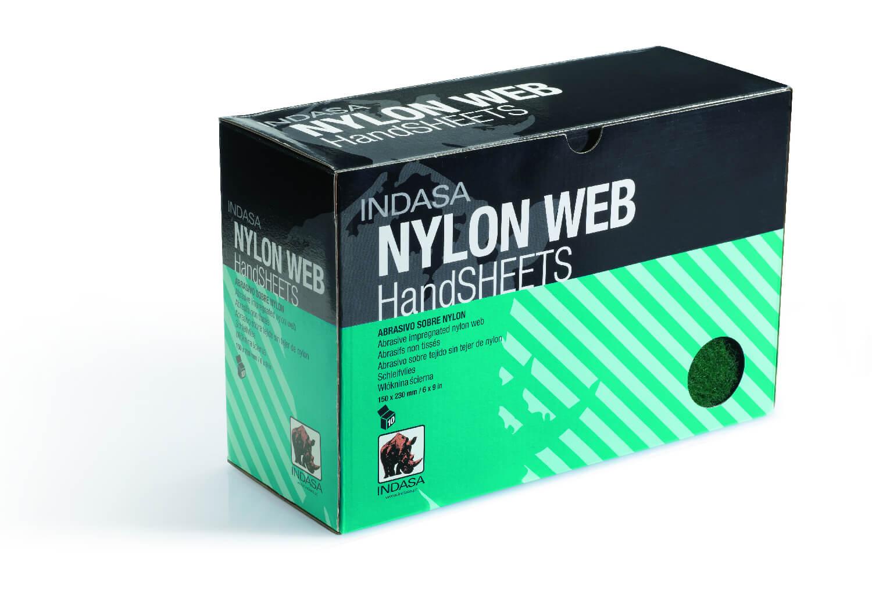 NYLON WEB Скотч брайт в листах VF червоний-0