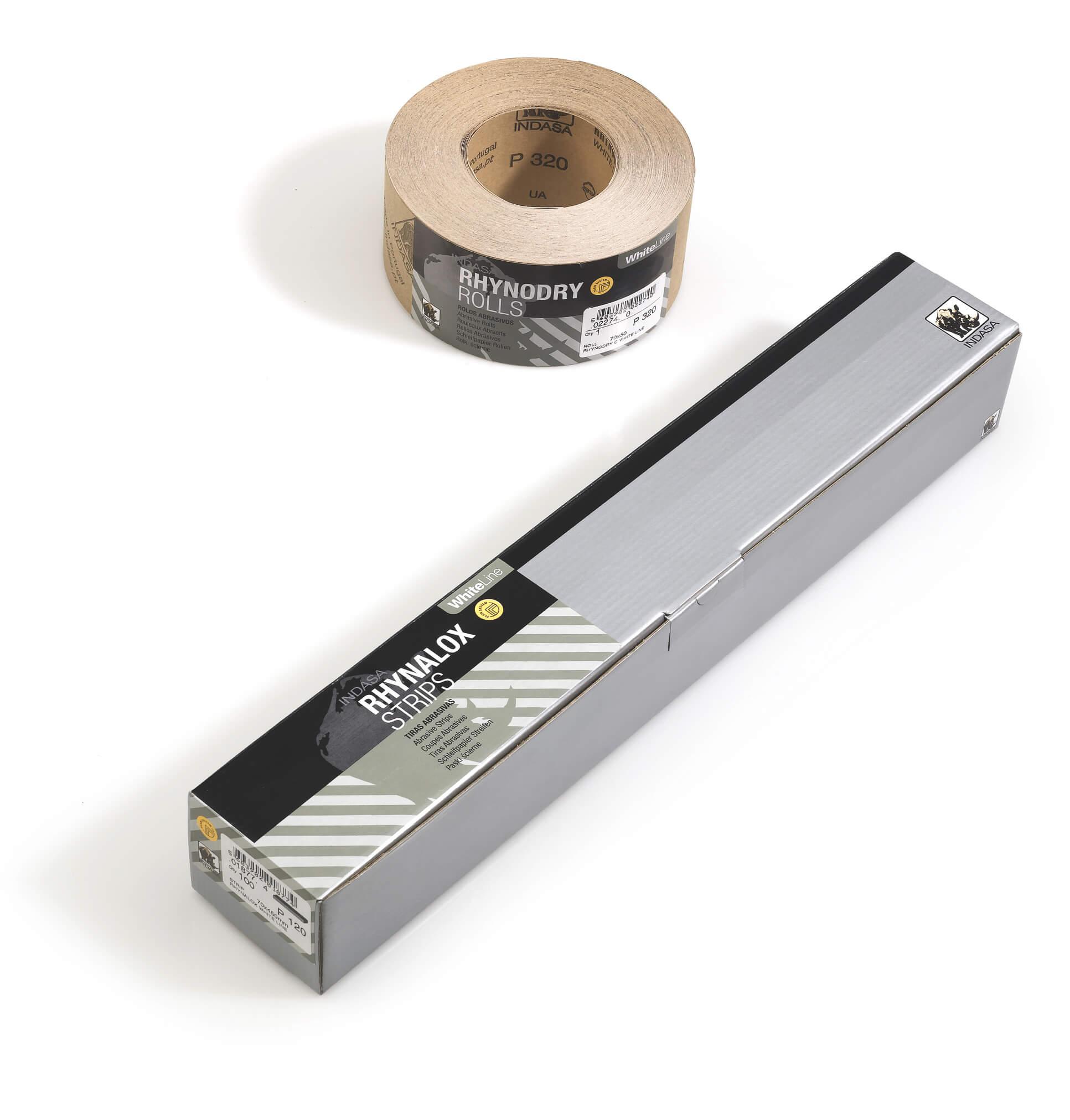 Шліфувальні рулони на папері RHYNALOX WHITE LINE-0