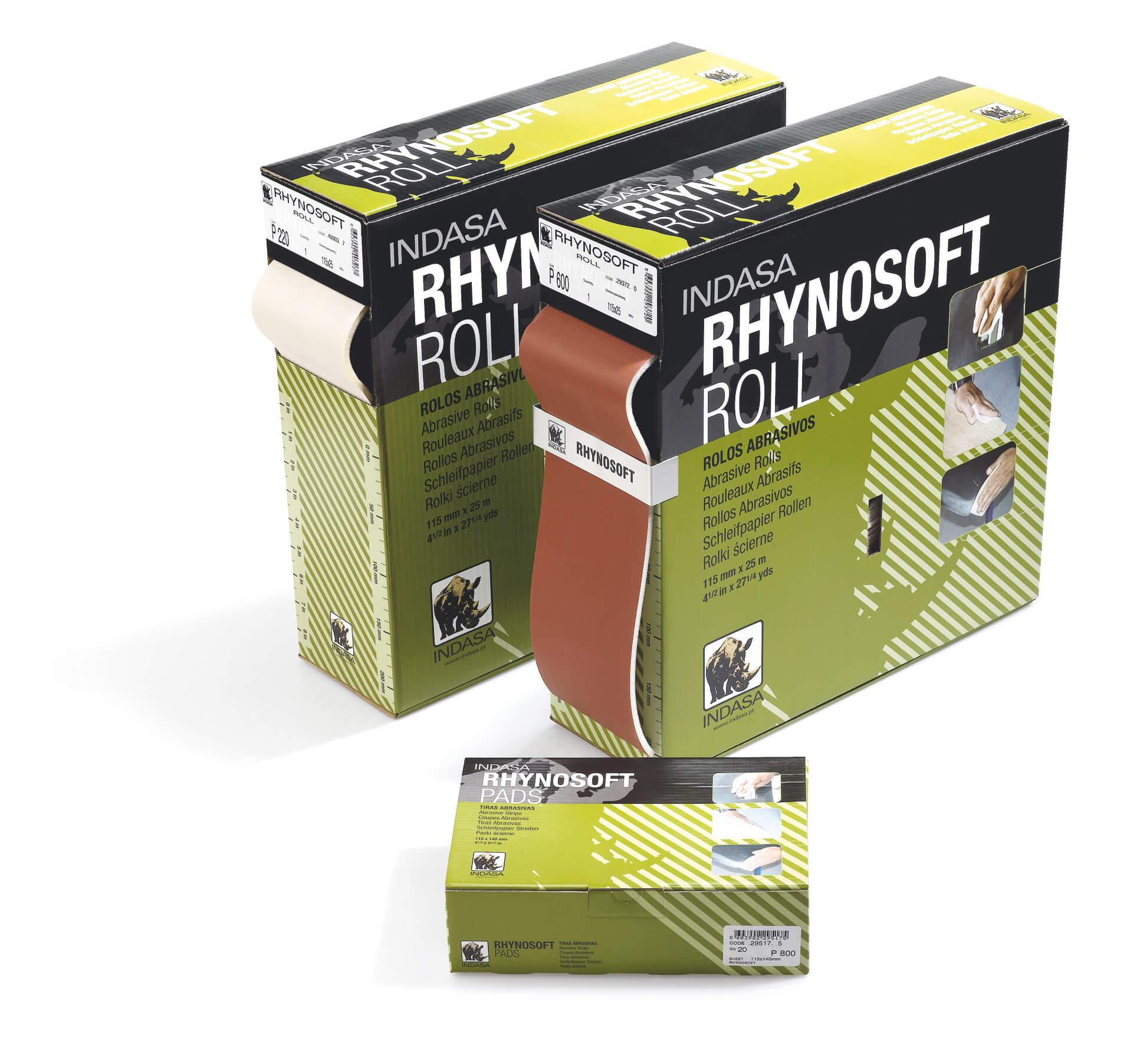 Шліфувальні рулони на поролоні RHYNOSOFT Р100 – Р600-0